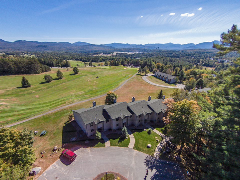 Aerial View of Property and Adirondack Mountains