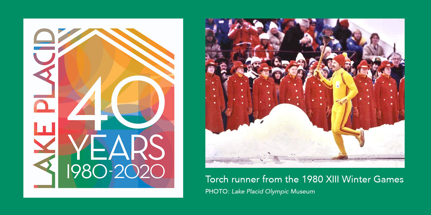 Torch Runner from the 1980 Olympic Winter Games
